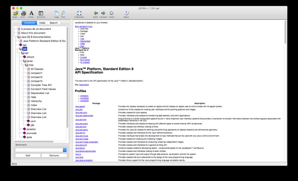 xCHM unter Mac OS X