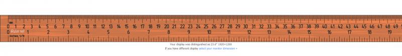 Das Lineal für den Monitor