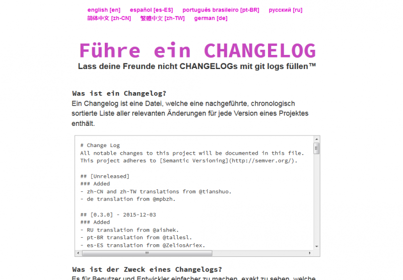 keepachangelog.com