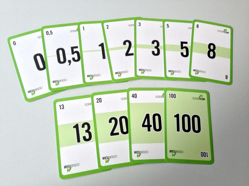 Karten für das Planning Poker