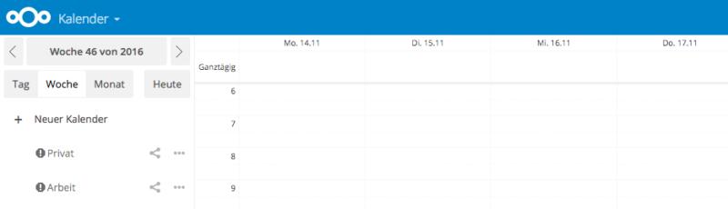 Das Ausrufezeichen informiert den Nutzer über fehlerhafte Einträge im Kalender