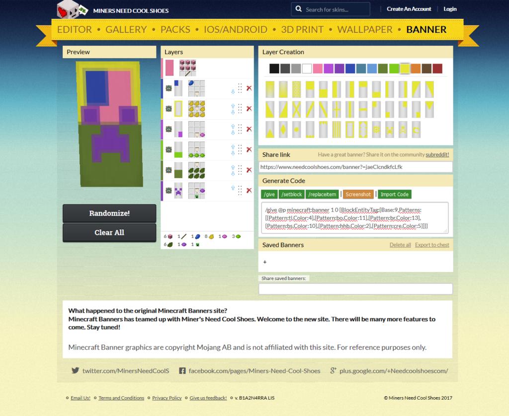 Minecraft Banner Im Browser Erzeugen Seeseekeynet - Minecraft server status banner erstellen